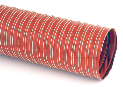 Large photo of High Temperature Silicone Air Duct Hose, Orange, Pegasus Part No. 3621-Diameter-Length