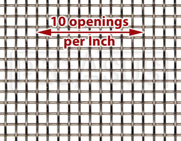 Large photo of Fine Mesh Stainless, #10 x .025 Wire (10 openings per inch), Pegasus Part No. 3640-Size