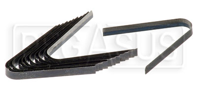 Large photo of One Dozen Spare Blades for Tire Grooving Iron (#3715), Pegasus Part No. 3717-Size