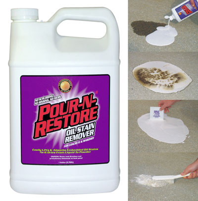 hao pour n restore oil stain remover pegasus auto On motor oil stain removal