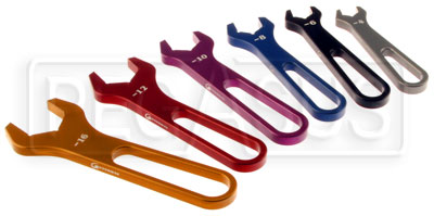 Large photo of 6 Piece Aluminum AN Wrench Set, Sizes 4, 6, 8, 10, 12 and 16, Pegasus Part No. 3830-416