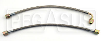 Large photo of Pre-Assembled Size 4 Braided PTFE Racing Hoses, Pegasus Part No. 4-Length-Ends