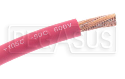 Large photo of Battery Cable, 4 Gauge - Red, Pegasus Part No. 4034-Size