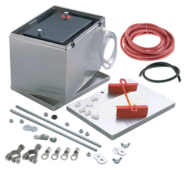 Large photo of Battery Relocation Kit with Aluminum Battery Box, Pegasus Part No. 4158-050