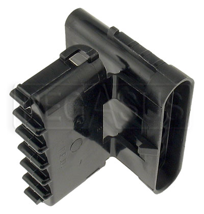 Large photo of Weather Pack 6-Pin Shroud Connector Body, Pegasus Part No. 4185-015