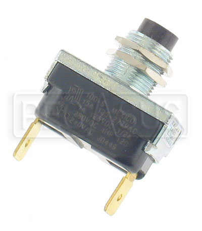 Large photo of Push Button Switch, SPST Momentary On, Push-On Terminals, Pegasus Part No. 4423