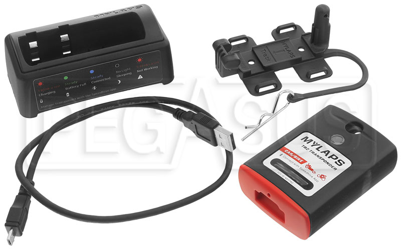 MyLaps TR2 Car//Bike Motorcycle Rechargeable Race Transponder 2-year Subscription