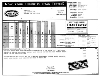 Large photo of Titan Engine Oil Analysis Kit, Single, Pegasus Part No. 5090-Size