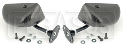 Large photo of SPA F1 Flat Lens Mirrors, Carbon Fiber, per pair, Pegasus Part No. 5174