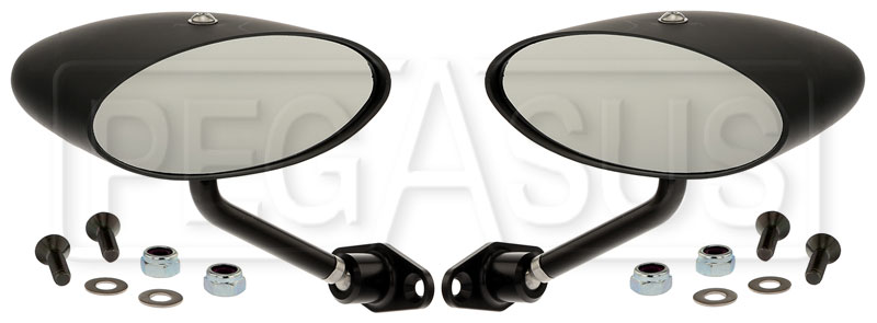 Large photo of Club Series Elliptical Flat Lens Mirrors, Nylon, Pair, Pegasus Part No. 5168-002