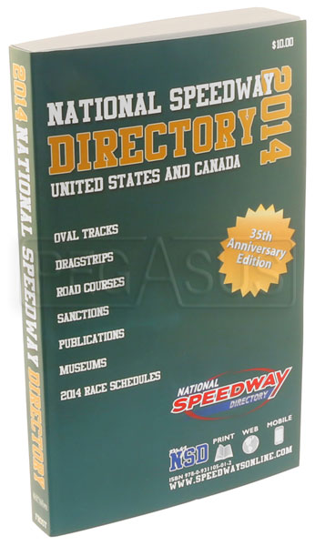 Large photo of National Speedway Directory, Pegasus Part No. 5398-100-DATE