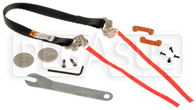 Large photo of HANS Tether Fitting: Sport II, QC Anchors, 18