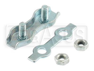 Large photo of Kart Throttle Cable Clamp, Figure-8 Style, Pegasus Part No. 9868-002