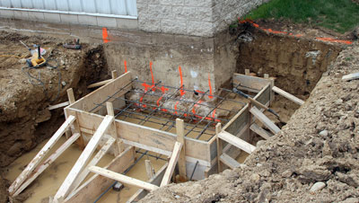 May 15, 2009 - Getting ready to pour footings.