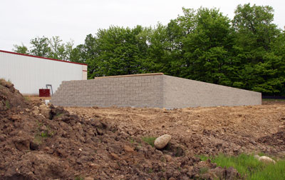 May 26, 2009 - Another view of the foundation wall.
