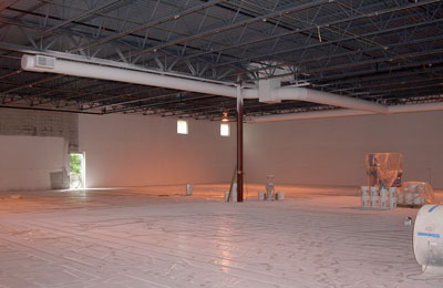August 7, 2009 - The painters have started on the interior.