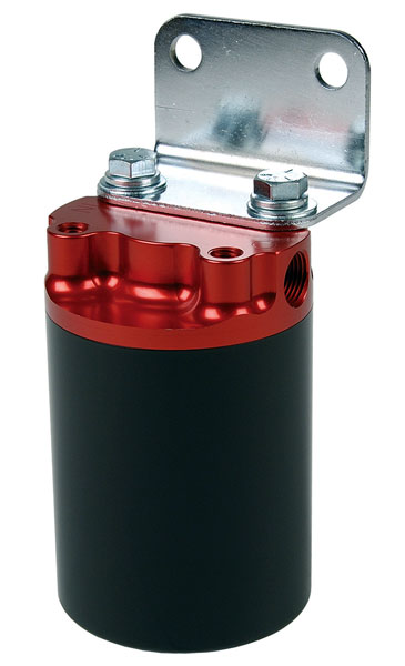 aeromotive 10 micron remote fuel filter, 3 8 npt, red black Remote Fuel Filter Chevy C30