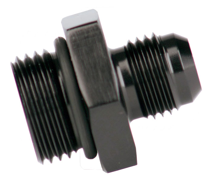 Aeromotive 8AN Male to -6 O-Ring Boss Adapter, Black