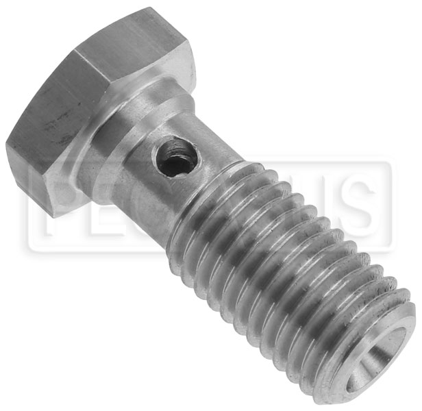 Banjo Bolt With Crush Washers Short 10mm X 1.25 Chrome Plated