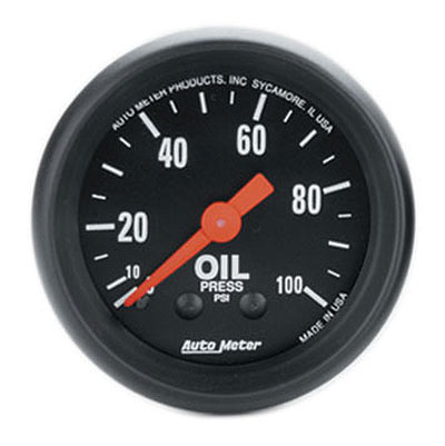 Large photo of Z Series 2 inch Oil Pressure Gauge, 100 psi, 6 foot, Pegasus Part No. AM2604