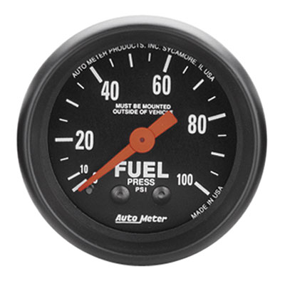 Large photo of Z Series 2 inch Fuel Pressure Gauge, 100psi, Pegasus Part No. AM2612