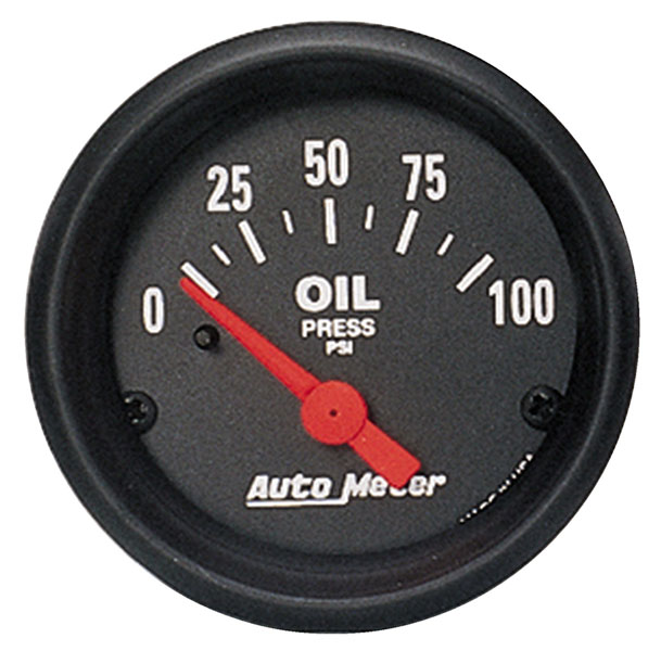 Large photo of Z Series 2 inch Oil Pressure Gauge, 100psi, Electric, Pegasus Part No. AM2634