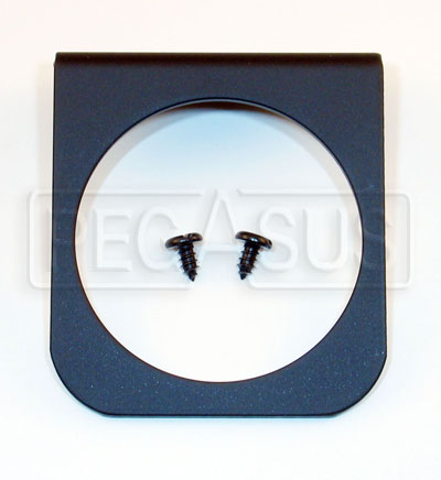 Large photo of 1-Mounting Hole Panel for 2 5/8 inch Gauges, Black, Pegasus Part No. AM3231