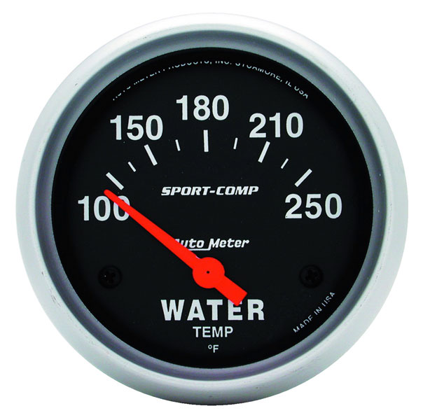 Large photo of Sport Comp 2 5/8 inch Water Temp Gauge, 100-250 F, Electric, Pegasus Part No. AM3531