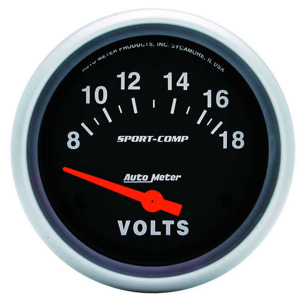 Large photo of Sport Comp 2 5/8 inch Electric Voltmeter, Pegasus Part No. AM3592