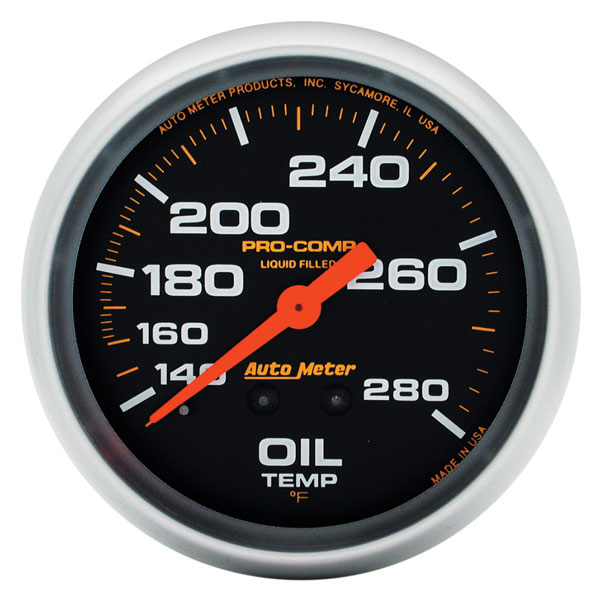 Large photo of Pro Comp 2 5/8 Liquid Filled Oil Temp Gauge:140-280F 12ft, Pegasus Part No. AM5443