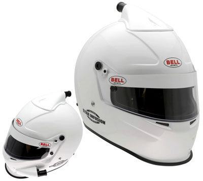 Large photo of Bell Star Infusion Helmet, Snell SAH2010, White, size 7 1/8, Pegasus Part No. BE002-S10-Size-Color