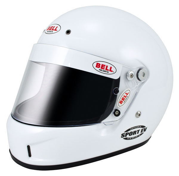 Large photo of Bell Sport EV Helmet, Snell SA2010 Approved, White, XXLarge, Pegasus Part No. BE004-S10-Size-Color