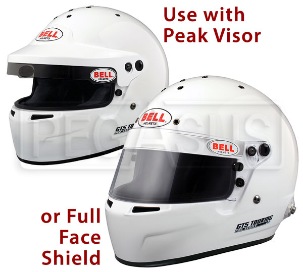 Large photo of Bell GT5 Touring Helmet, Snell SAH2010, White, size 7 1/4, Pegasus Part No. BE005-S10-Size-Color