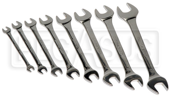 Large photo of Beta 55MP/S8, 8 Piece Chrome Open End Wrench Set, Metric, Pegasus Part No. BT-000550650
