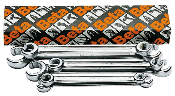 Large photo of Beta Tools 94/S6, 6 Piece Flare Nut Wrench Set, Metric, Pegasus Part No. BT-000940050