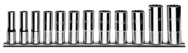 Large photo of 910AS-L/SB12 12-Pc Socket Set, 3/8