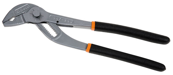 Large photo of 1047 Slip Joint Pliers with Push Button Adjustment, 240mm, Pegasus Part No. BT-010470240
