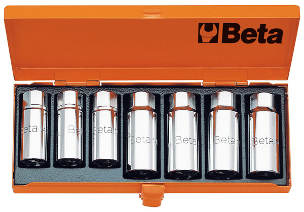 Large photo of Beta 1434/C7 Set of 7 Pullers for Threaded Studs, 1/2
