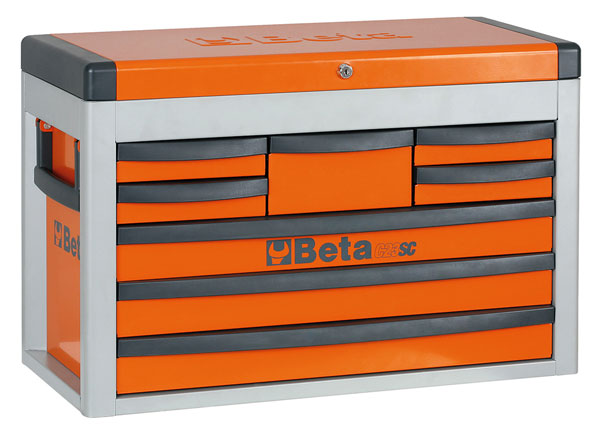 Beta Tools C23SC-O Eight-Drawer Portable Tool Chest, Orange ...