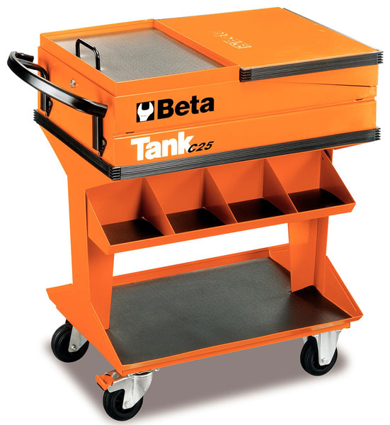 Large photo of Beta C25 TANK Trolley with Shelf, Orange - Ships by Truck, Pegasus Part No. BT-025000001