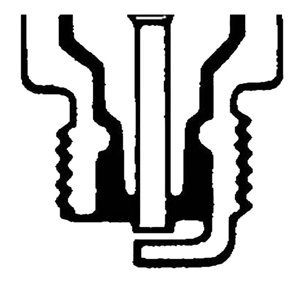 Large photo of Champion Sparkplug, Cut Back Ground, Copper+, Hot, Pegasus Part No. CH C63CX