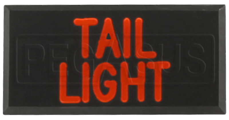 Large photo of Clearance Dash Badge Identification Plate (Tail Light), Pegasus Part No. CL1100-TAILLIGHT