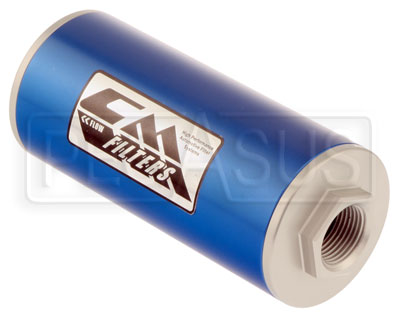 Large photo of Canton 6 inch Inline Oil Filter, 8 Micron, -12 O-Ring Ports, Pegasus Part No. CM 25-116