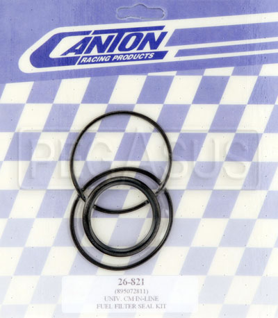 Large photo of Canton In-Line Fuel Filter Seal Kit, Pegasus Part No. CM 26-821