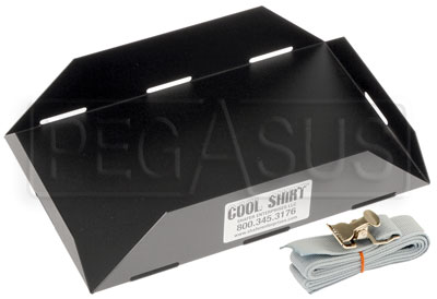 Large photo of Cool Shirt Cooler Mounting Tray with Strap, Pegasus Part No. CS500-Size
