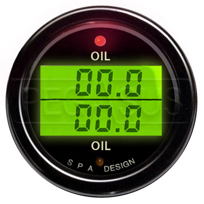 Large photo of SPA Design Oil Temp/ Oil Temp Gauge, Pegasus Part No. DG209