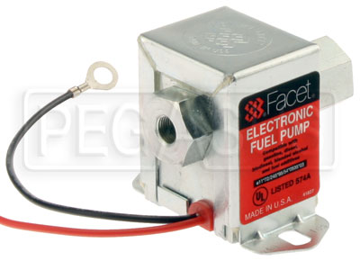 Large photo of Facet Cube Style 12 Volt Fuel Pump, 3 to 4.5 max psi, Pegasus Part No. FAC-40105
