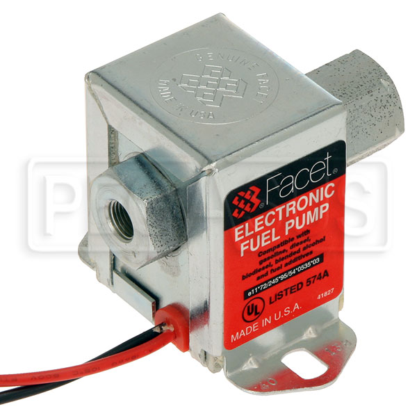Large photo of Facet Cube Style 12 Volt Fuel Pump, 4 to 7 max psi, 1/8 NPT, Pegasus Part No. FAC-40138