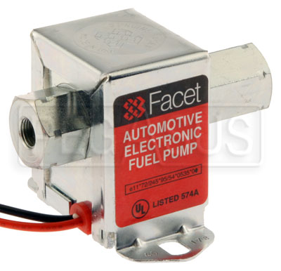 Large photo of Facet Cube Style 12 Volt Fuel Pump, 2 to 3.5 max psi, Pegasus Part No. CLFAC-40178