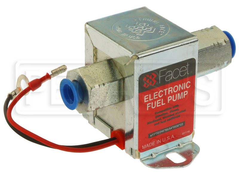 Large photo of Facet Cube Style 12 volt Fuel Pump, 2 to 3.5 max psi, Pegasus Part No. FAC-40241